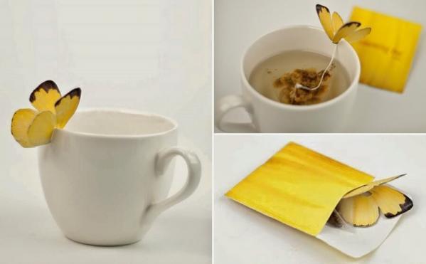15. butterfly tea bags