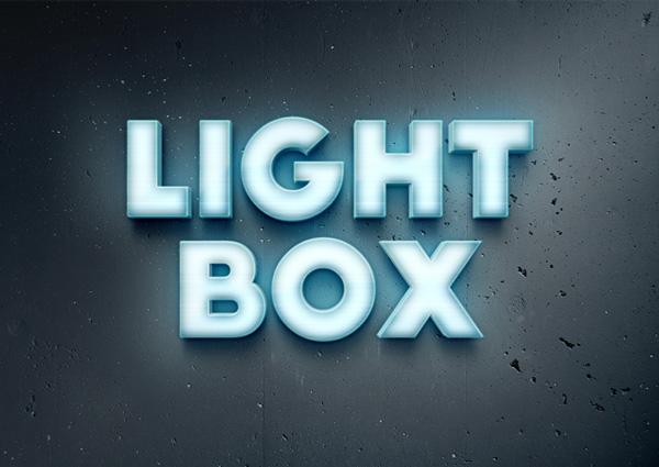 lightbox-text-effect