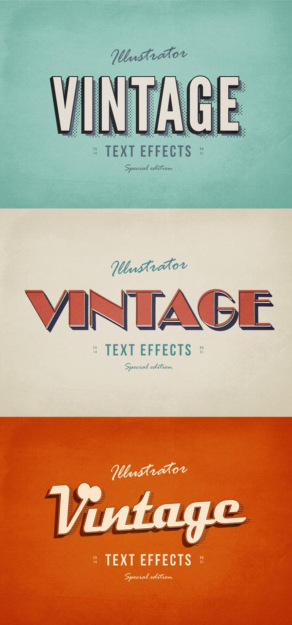 3-illustrator-vintage-text-effects