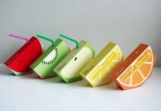 3. fruity juice containers