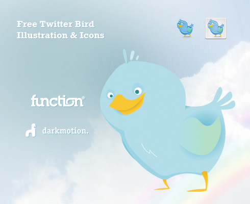 function twitter free1 45+ Delicious Free Twitter Icons and Resources