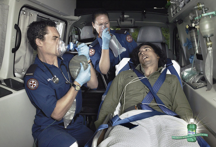listermintambulance 51 Examples of Funny & Creative Advertisement