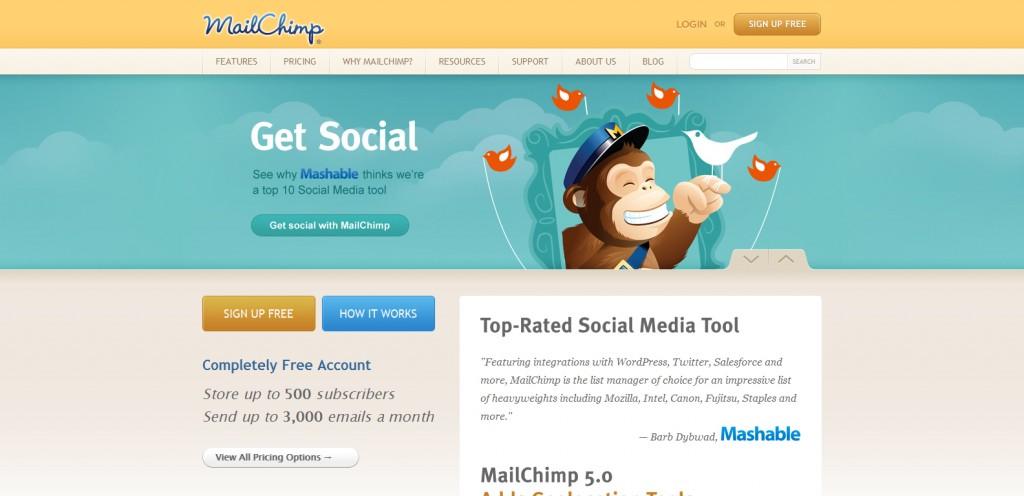 mailchimp 1024x496 35 Stunningly Elegant Web Designs