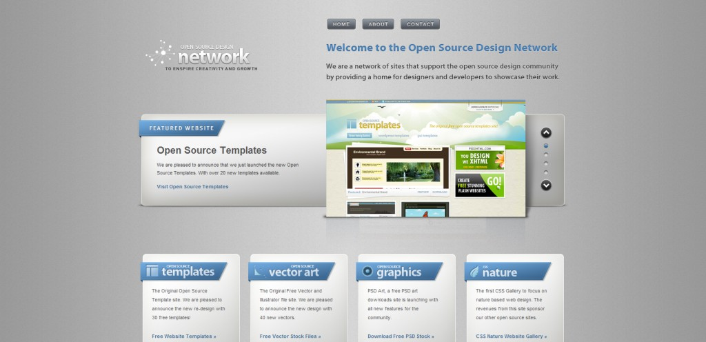 osdnetwork 1024x496 35 Stunningly Elegant Web Designs
