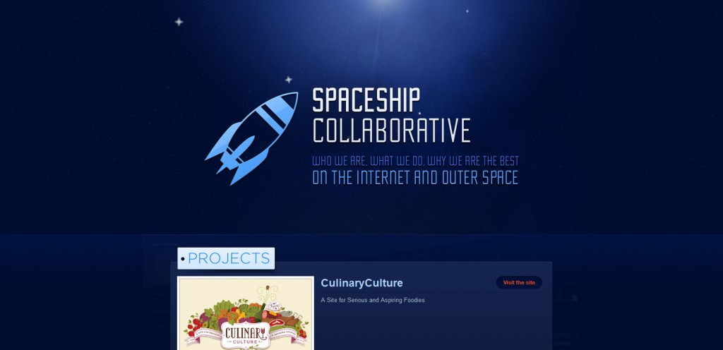 spaceshipcollaborative 1024x496 35 Stunningly Elegant Web Designs