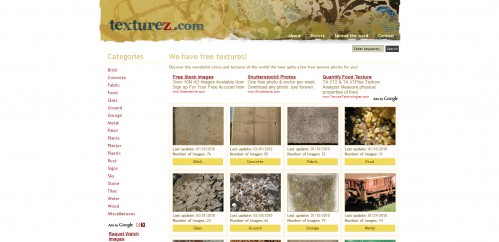 texturez 499x242 31 Resources for Free Textures