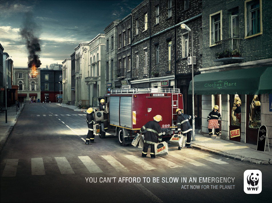 wwf firemen 51 Examples of Funny & Creative Advertisement