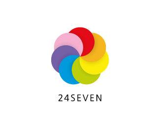 24seven 45 Mind Blowing Colorful Logo Designs