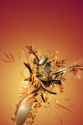 3 D Blossoms 50 Astonishing Abstract iPhone Wallpapers