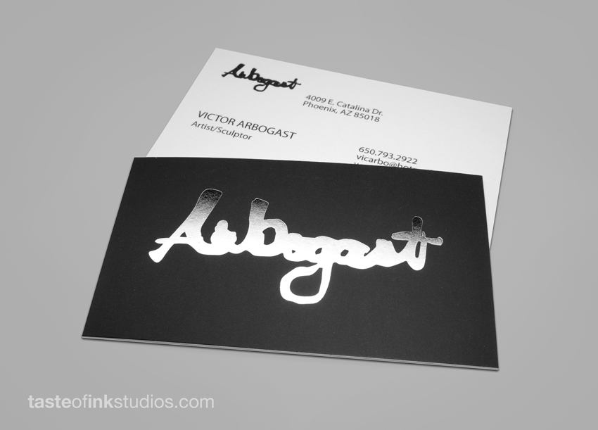 Arbogast 100 Refreshing Black & White Business Cards