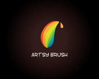 Artsy Brush 45 Mind Blowing Colorful Logo Designs