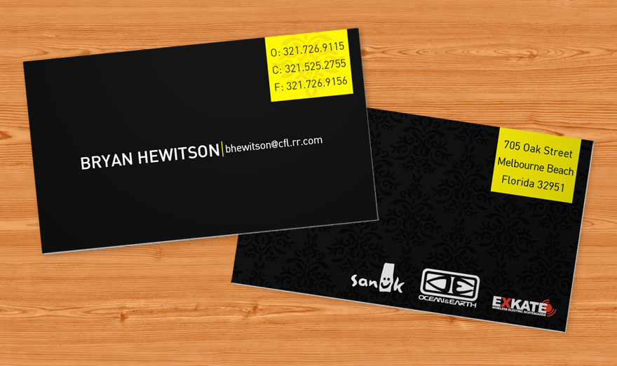 BryanHewitsonBC 100 Refreshing Black & White Business Cards
