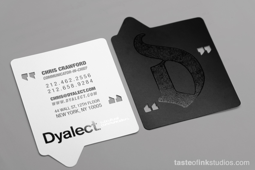 Dyalect Big 100 Refreshing Black & White Business Cards