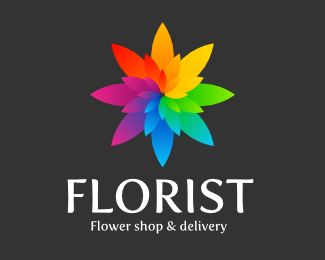 Florist 45 Mind Blowing Colorful Logo Designs