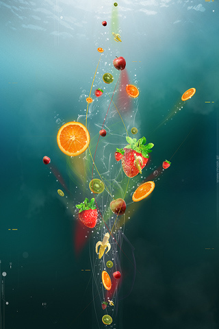Fruit Sensation 50 Astonishing Abstract iPhone Wallpapers