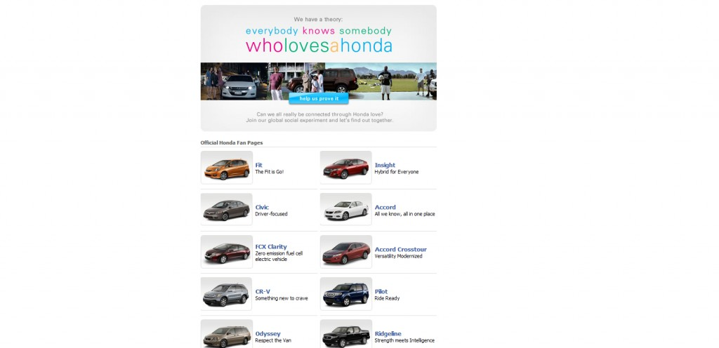 Honda 1024x496 40 Great Examples of Facebook Fan Page Designs