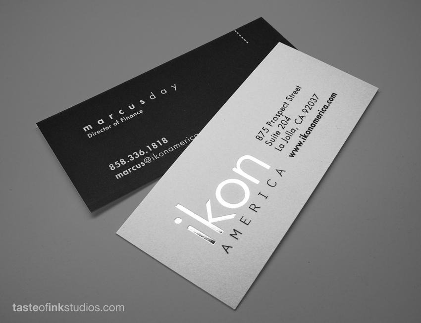 Ikon America BC 100 Refreshing Black & White Business Cards
