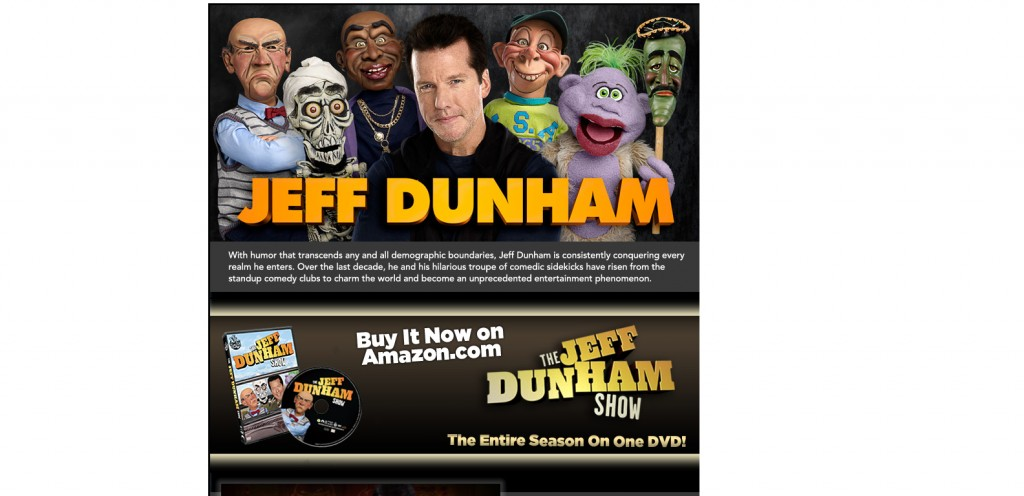 JeffDunham 1024x496 40 Great Examples of Facebook Fan Page Designs