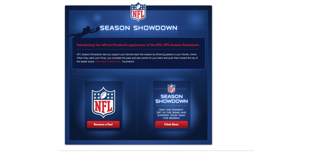 NFL 1024x496 40 Great Examples of Facebook Fan Page Designs