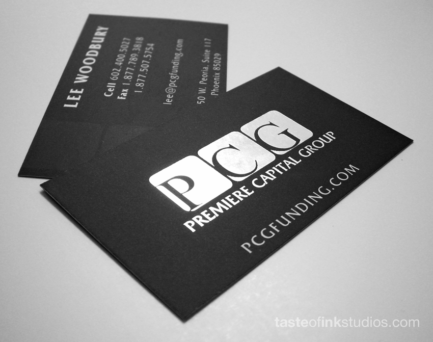 PCG 100 Refreshing Black & White Business Cards