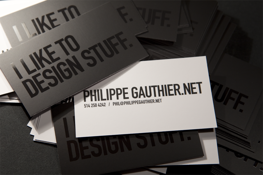 PhilGauthier Card 100 Refreshing Black & White Business Cards