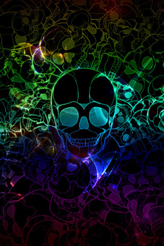 Pretty Skull 50 Astonishing Abstract iPhone Wallpapers