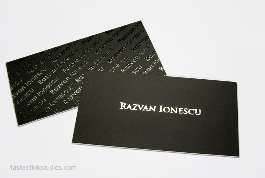 Razvan 100 Refreshing Black & White Business Cards
