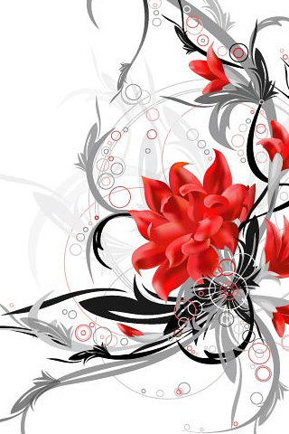 Red Flower 50 Astonishing Abstract iPhone Wallpapers