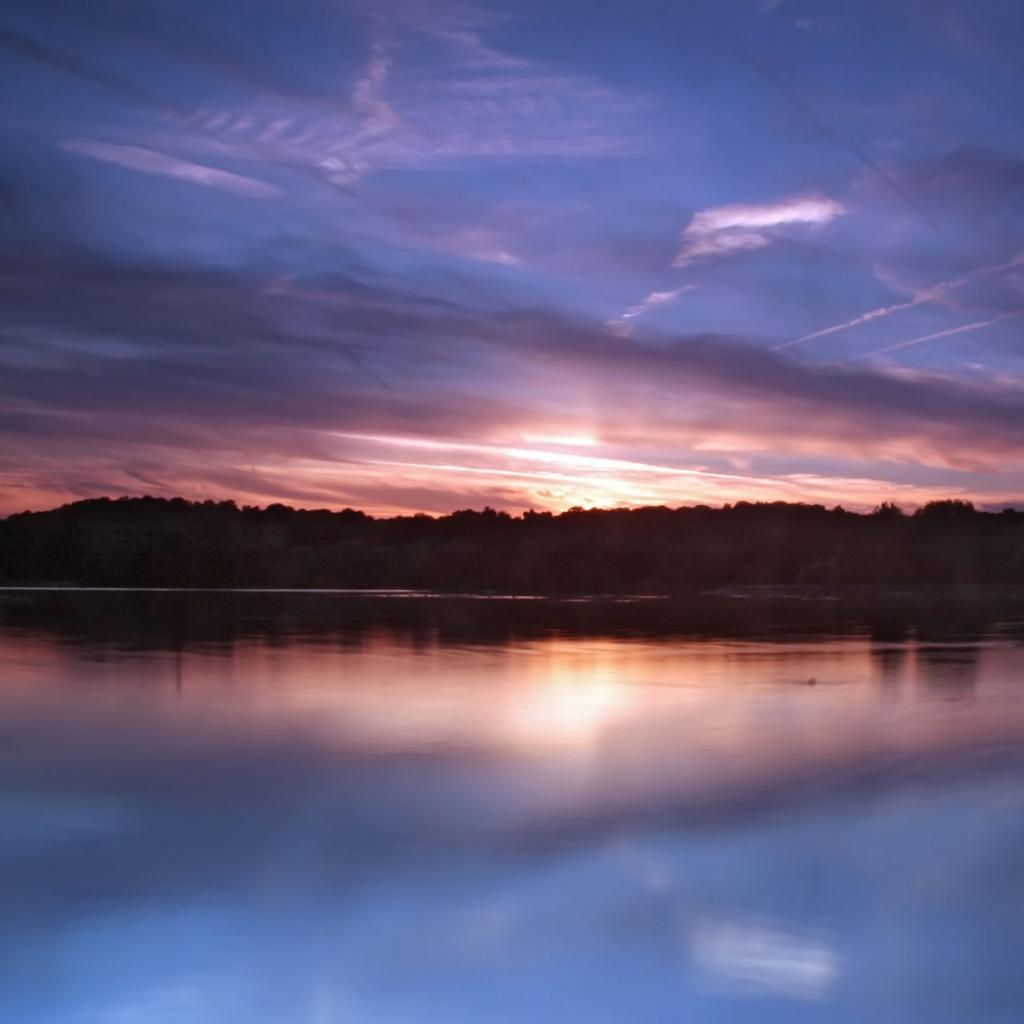 Still Lake at Dusk 40 Ravishing Scenery iPad Wallpapers
