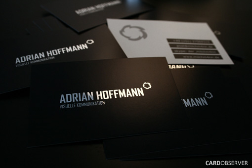 adrian 100 Refreshing Black & White Business Cards