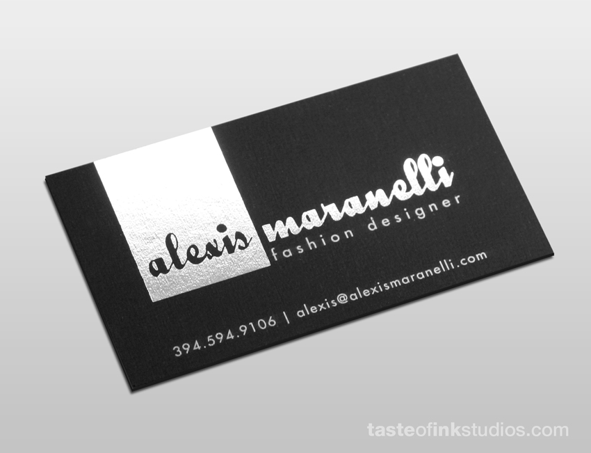 alexis big 100 Refreshing Black & White Business Cards