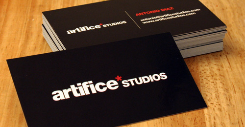 artifice studios 100 Refreshing Black & White Business Cards