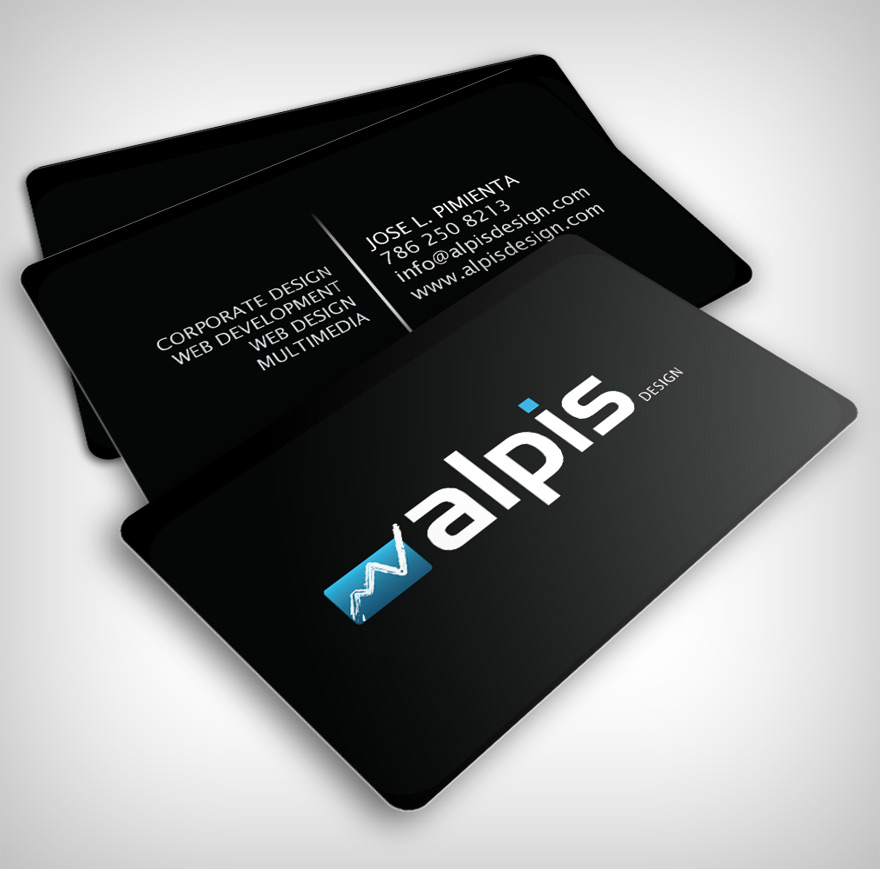 bc full 100 Refreshing Black & White Business Cards