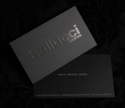 bellucci 100 Refreshing Black & White Business Cards
