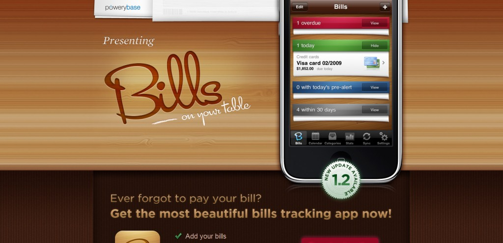 bills 1024x496 100 Wonderfully Designed iPhone App Websites
