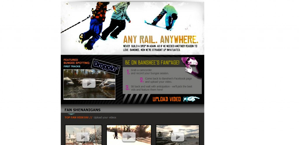 boardbungee 1024x496 40 Great Examples of Facebook Fan Page Designs