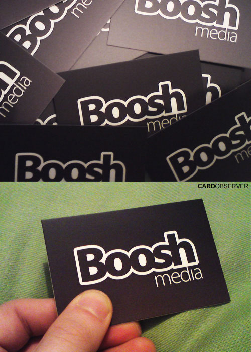 boosh 100 Refreshing Black & White Business Cards