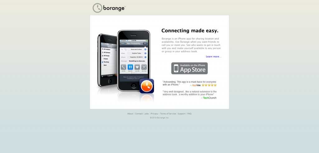 borange 1024x491 100 Wonderfully Designed iPhone App Websites