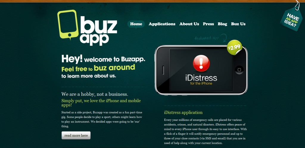 buzapp 1024x496 100 Wonderfully Designed iPhone App Websites