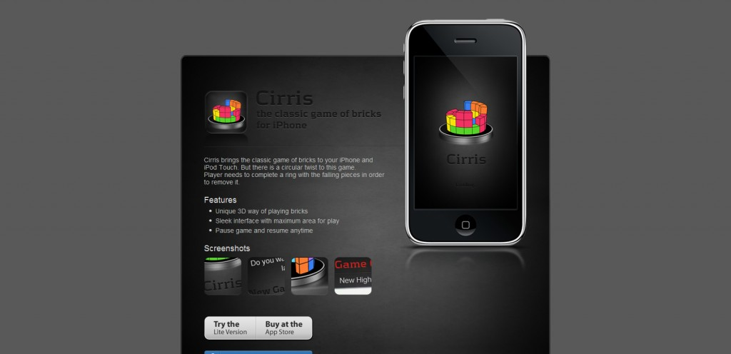 cirrisapp 1024x496 100 Wonderfully Designed iPhone App Websites