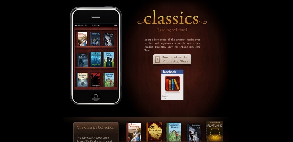 classicsapp 1024x496 100 Wonderfully Designed iPhone App Websites
