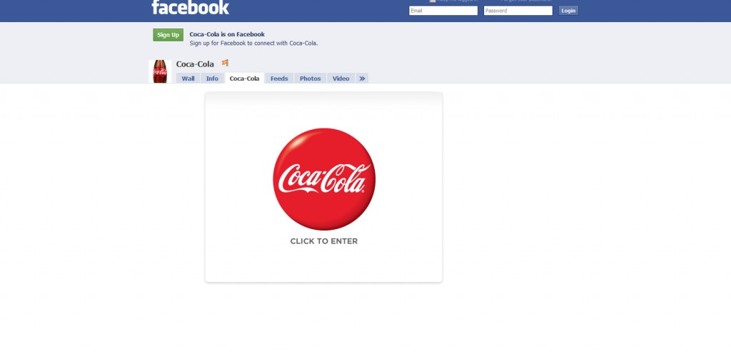 cocacola 1024x496 40 Great Examples of Facebook Fan Page Designs