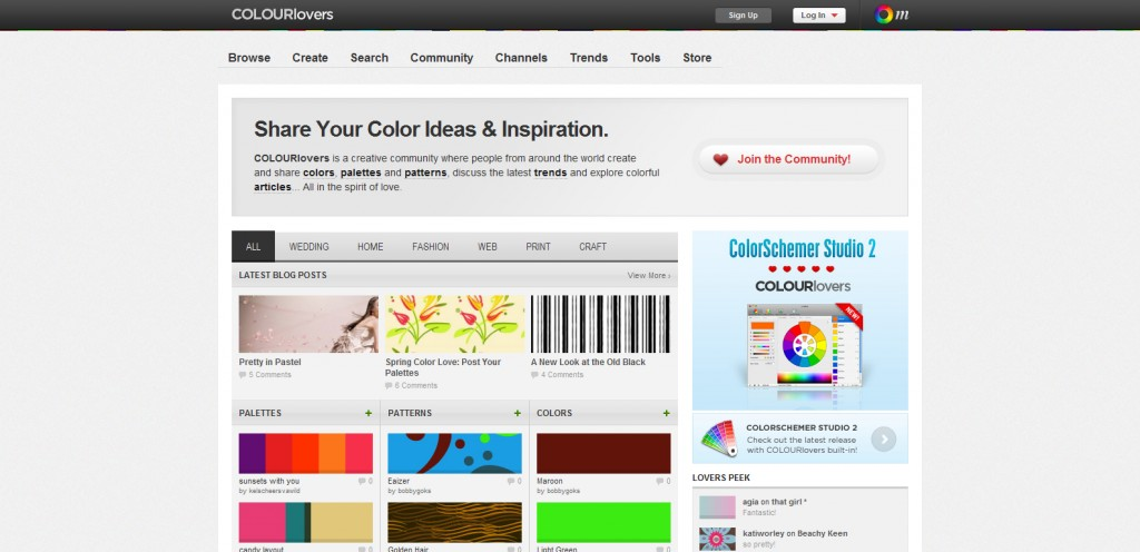 colourlovers 1024x496 Top 22 Helpful Color Tools for Designers