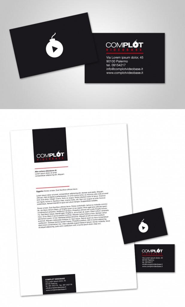 complot 02 618x1023 100 Refreshing Black & White Business Cards