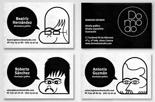 creative business cards domodo estudio 100 Refreshing Black & White Business Cards