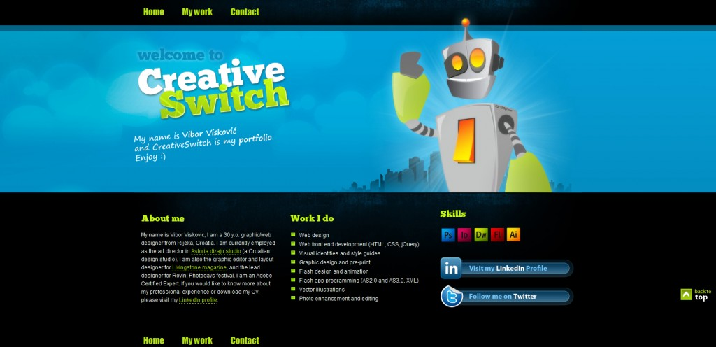 creativeswitch 1024x496 50 Unique Examples of Single Page Portfolios