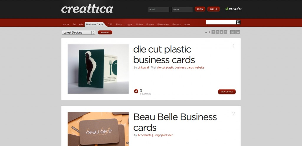 creattica 1024x496 Top 8 Websites for Business Card Inspiration