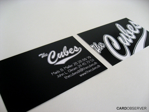cubes 100 Refreshing Black & White Business Cards