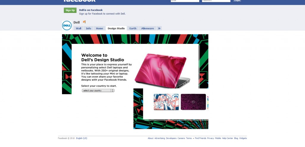 dell 1024x496 40 Great Examples of Facebook Fan Page Designs