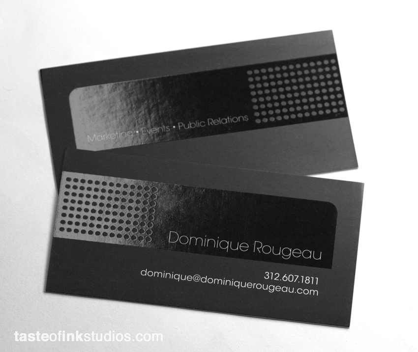 dominique big 100 Refreshing Black & White Business Cards